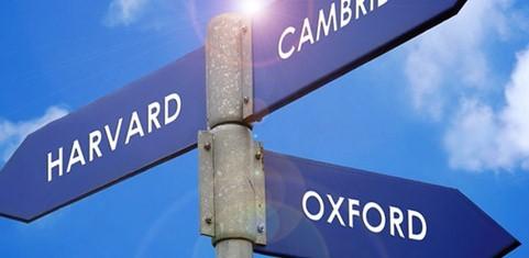 Signpost to Harvard, Cambridge, Oxford