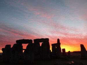 A gorgeous sunrise over Stonehenge